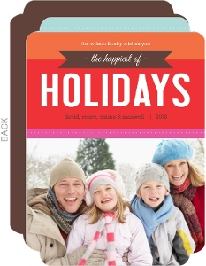Colorful and Bright Modern Holiday Photo Card