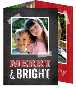 Merry and Bright Family Christmas Photo Card