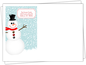 Snowflakes And Snowman Fun Holiday Envelope