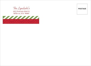 Flowers And Stripes Holiday Envelope