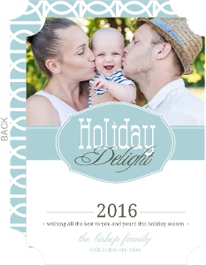 Retro Style Holiday Photo Card