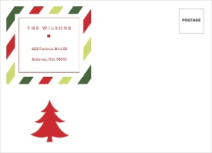 Red And Green Stripes Holiday Envelope