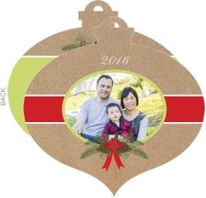 Red Poinsettia Holiday Photo Card
