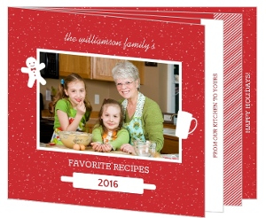 Red Family Recipe Holiday Photo Card
