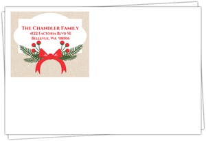 Holiday Country Floral Holiday Envelope