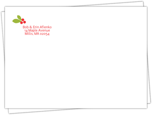 Rustic Holiday Birth Announcement Envelope