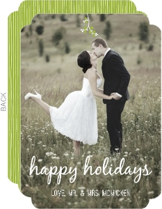 Kissed Under the Mistletoe Holiday Card