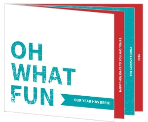 Oh What Fun Timeline Holiday Photo Card