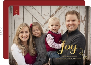 Happy Family Holiday Photo Card