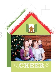 Cute Holiday House Photo Card