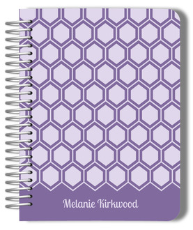 Lavender Hexagon Pattern Mom Planner