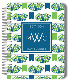 Blue and Green TuTu Pattern Custom Mom Planner