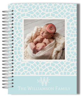 Baby Blue Mosaic Photo Mom Planner