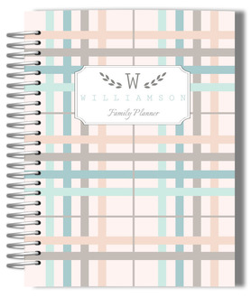 Preppy Plaid Family Mom Planner