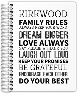 Family Rules Custom Mom Planner