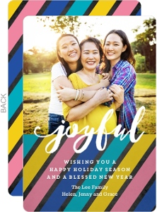 Joyful Stripes Holiday Photo Card