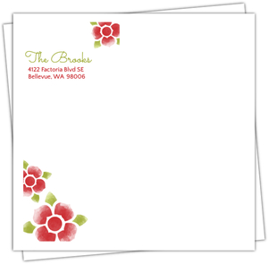 Watercolor Flowers Christmas Envelope