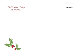 Red Banner And Mistletoe Holiday Envelope