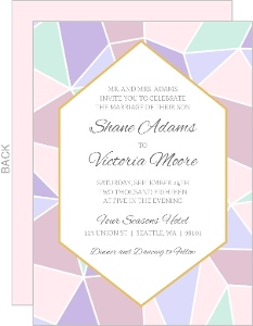 Geometric Pastel Wedding Invitation