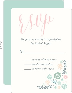 Succulent Floral Wedding Response Card