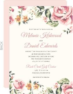 Floral Garden Wedding Invitation