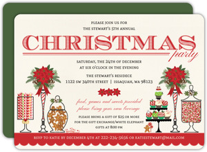 Holiday Sweets Bar Party Invitation