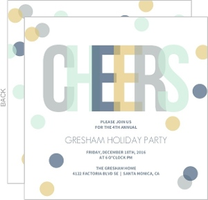 Confetti Cheers Holiday Party Invitation