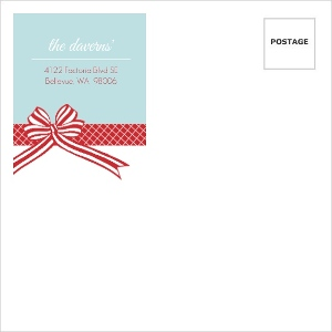 All Wrapped Up Red And Blue Holiday Envelope