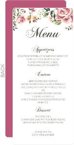 Floral Garden Wedding Menu Card