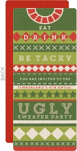 Christmas Ugliest Colorful Sweater Party Invitation