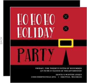 Fun Santa Holiday Party Invitation