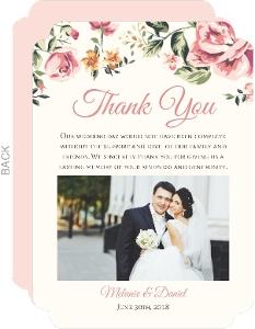 Floral Garden Wedding Thank You Card