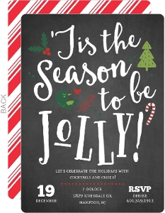 Chalkboard Jolly Cheer Holiday Party Invitation