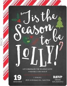 Chalkboard Jolly Cheer Holiday Party Invitation