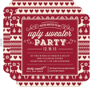 Vintage Sweater Holiday Party Invitation