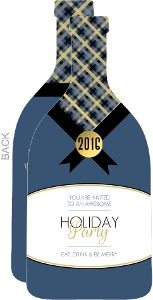 Champagne Bottle Holiday Party Invitation