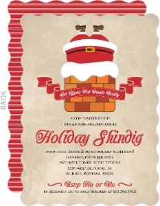 Santa Fat Pants Holiday Party Invitation