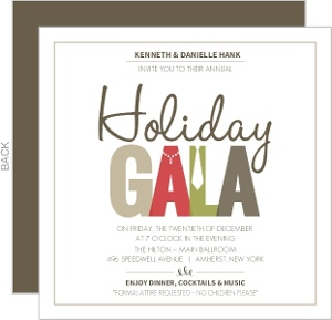 holiday party invitations  page, Party invitations