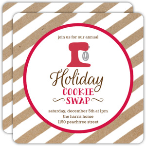 Festive Cookie Swap Holiday Party Invitation