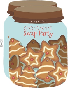 cookie exchange invitations  cookie party invitations, party invitations