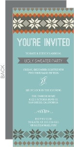 Snowflake Sweater Pattern Holiday Party Invitation