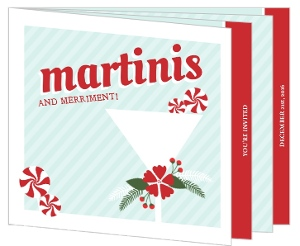Fesitve Peppermint Martini Cocktails Party Invitation