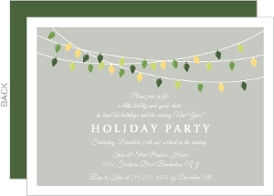 Hanging Holiday Lights Holiday Party Invitation
