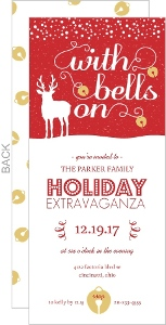 Jingle Bells Red Holiday Party Invitation