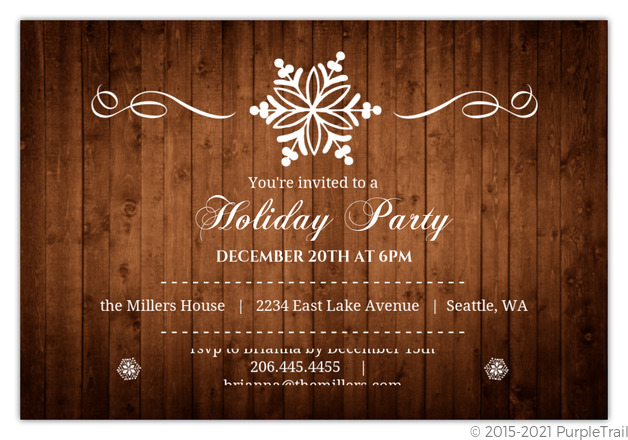 budget holiday party ideas from purpletrail, Party invitations