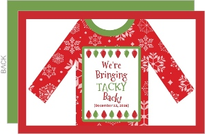Bringing Tacky Back Holiday Party Invitation