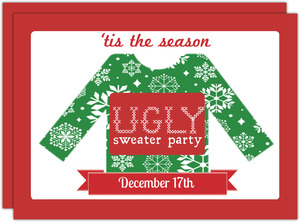 tis ugly sweater holiday party - Ugly Sweater Christmas Party Invitations
