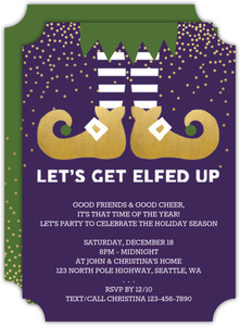 Get Elfed Up Holiday Party Invitation