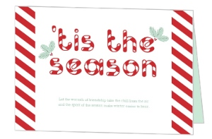 Christmas Candy Cane Stripes Holiday Party Invitation