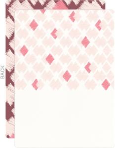 Pink Ikat Pattern Wedding Invitation